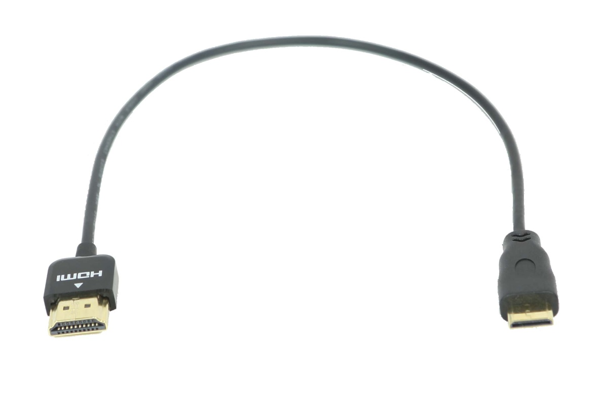 12 in. HDMI to Mini HDMI thin Cable